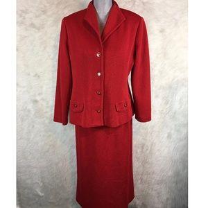 Castleberry Knits Jacket & Skirt Suit Set Career